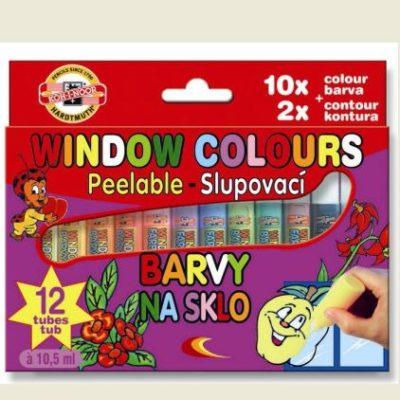 Zlupovacie farby na sklo Window colours