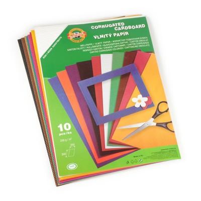 Vlnitý papier, mix farieb