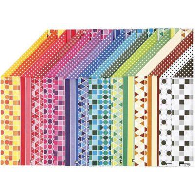 kartón s farebným vzorom