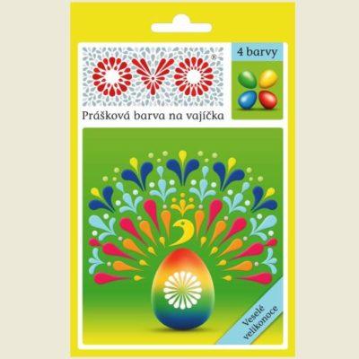 Prášková farba na vajíčka 4 farby