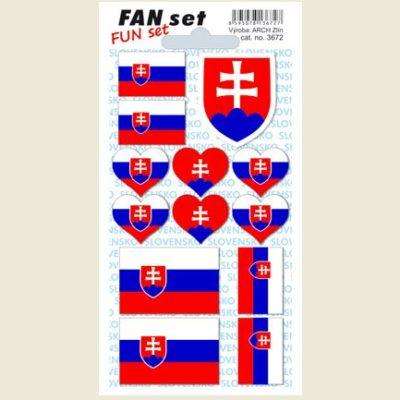 Samolepky FAN set Slovensko