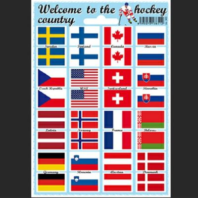 Samolepky vlajky Welcome to the hockey country