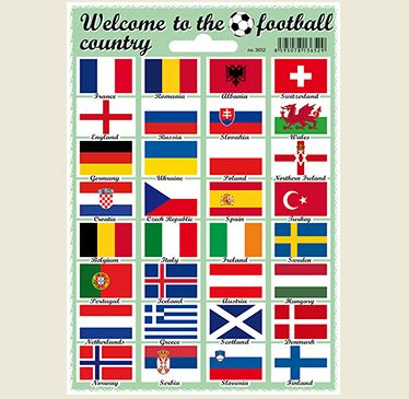 Samolepky vlajky Welcome to the football country
